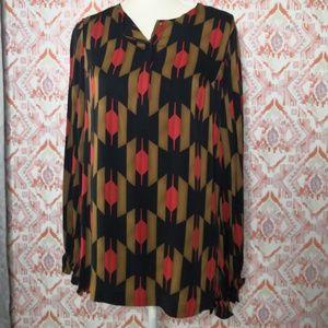 Diane Von Furstenberg Blouse Silk Pullover Size 12